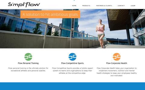 Screenshot of About Page simpliflow.com - Home - SimpliflowSimpliflow - captured Oct. 26, 2014