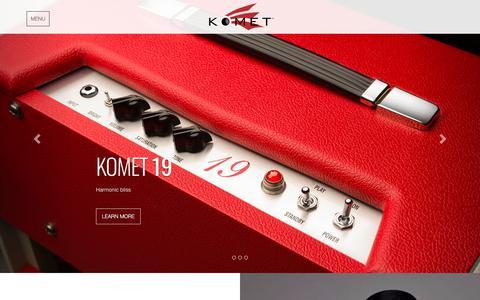 Screenshot of Home Page kometamps.com - Home | Komet Amplification - captured Feb. 18, 2018