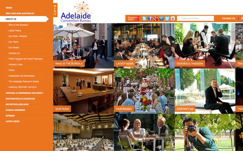 Screenshot of About Page adelaideconvention.com.au - About Us | Adelaide Convention Bureau - captured Oct. 4, 2014