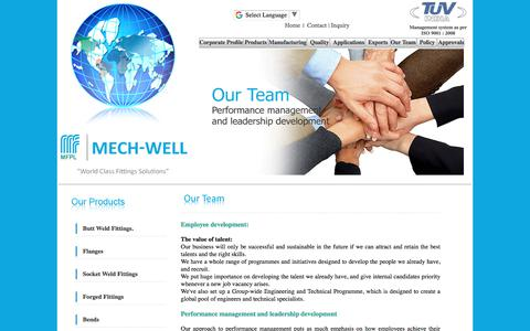Screenshot of Team Page mechwellfittings.com - Our Team : Alloy Steel Pipe Fittings, Nickel Based Steel in india - captured Oct. 18, 2017