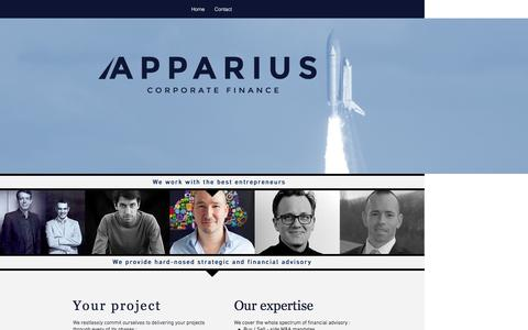 Screenshot of Home Page apparius.fr - apparius - captured Feb. 5, 2016