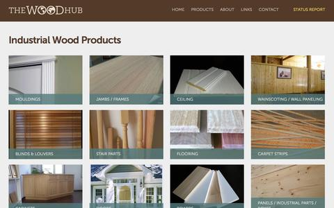 Screenshot of Products Page thewoodhub.net - Industrial Wood Products - captured Nov. 3, 2014