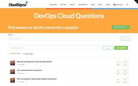 Screenshot of FAQ Page cloudsigma.com - ANSPRESS_TITLE   CloudSigma - captured June 27, 2018