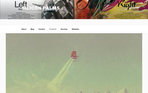 Screenshot of Products Page siliconpalms.com - Products - Silicon Palms - captured Nov. 13, 2017
