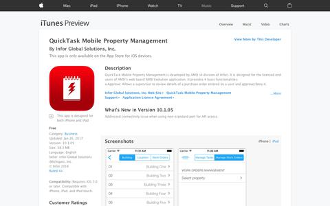 QuickTask Mobile Property Management on the App Store