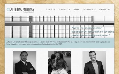 Screenshot of About Page altijiramurray.com - About Us | Altijira Murray Products, LLC.Altijira Murray Products, LLC. - captured Oct. 4, 2014