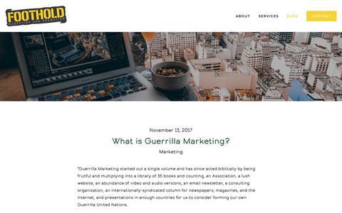 Screenshot of Blog Press Page footholdmarketing.com - Blog — Foothold Marketing & Promotion - captured Oct. 10, 2018