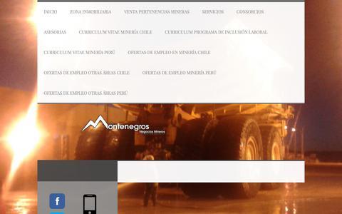 Screenshot of About Page montenegrosnegocios.com - Aviso legal - Montenegros Negocios Mineros - captured Oct. 18, 2018