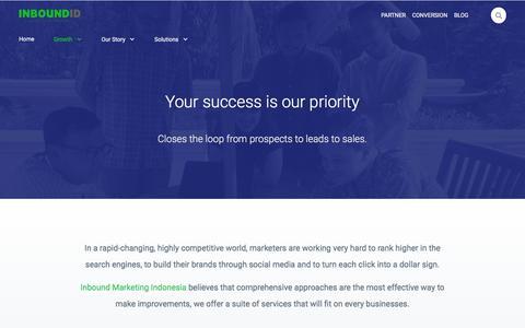 Screenshot of Services Page inboundid.com - Inbound Marketing Services   InboundID - captured July 21, 2018