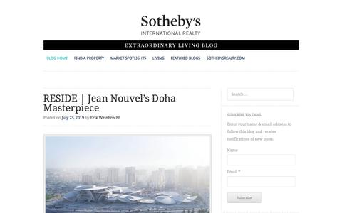 Screenshot of Blog Press Page sothebysrealty.com - Sotheby's International Realty | Blog - Extraordinary Living Luxury Real Estate Blog - captured July 26, 2019