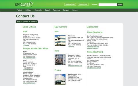 Screenshot of Locations Page atrenta.com - Atrenta: Company Contact Information, Atrenta Worldwide - captured Oct. 28, 2014