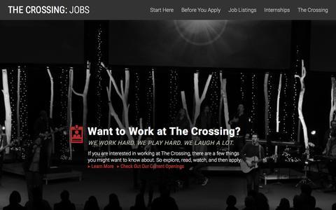 Screenshot of Jobs Page wcrossing.org - Jobs Home | Jobs - captured Dec. 2, 2016