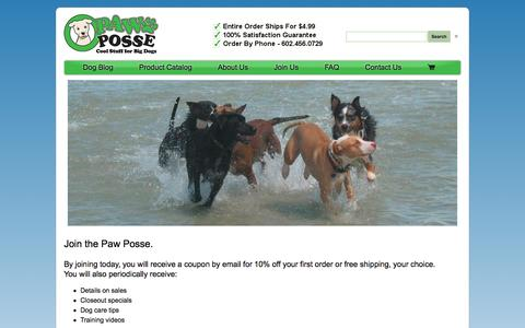 Screenshot of Signup Page pawposse.com - Coupons, Sales, Promo Codes, and More. - captured Oct. 2, 2014