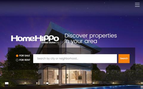 Screenshot of Home Page homehippo.com - Houses, Apartments, Condos and more. For Sale and For Rent - HomeHippo.com - captured Jan. 17, 2016
