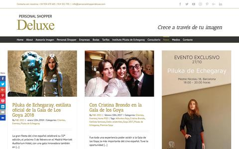 Screenshot of Press Page personalshopperdeluxe.com - Eventos y Noticias | Personal Shopper Deluxe - captured July 17, 2018