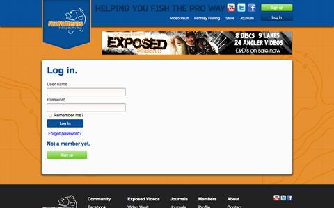 Screenshot of Login Page propatterns.com - Log in - Pro Patterns - captured Sept. 30, 2014