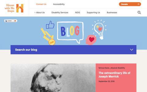 Screenshot of Blog hwns.com.au - Disability blog | House with No Steps - captured Sept. 30, 2018