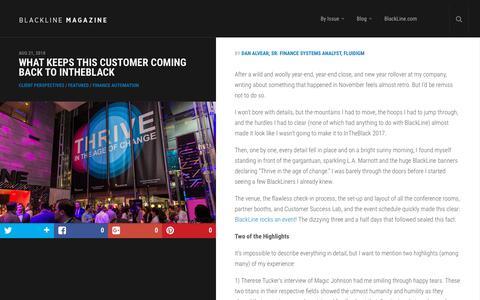 Screenshot of Case Studies Page blackline.com - What Keeps This Customer Coming Back to InTheBlack | BlackLine Magazine - captured Nov. 29, 2019