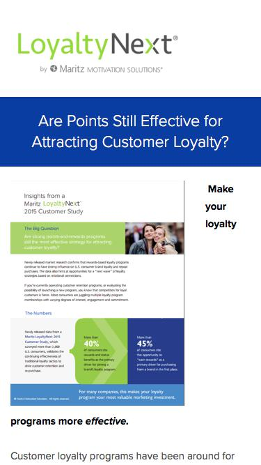 Are Points Still Effective for Attracting Customer Loyalty?