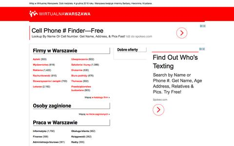 Screenshot of Home Page wirtualna.warszawa.pl - Wirtualna Warszawa | Dobra Strona Miasta - captured Dec. 4, 2016