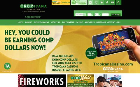 Screenshot of Home Page tropicana.net - Tropicana Casino | Atlantic City Hotels | Official Site - captured Dec. 11, 2015