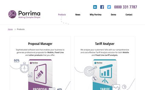 Screenshot of Products Page porrima.co.uk - Products Archive - Porrima - captured Sept. 24, 2018
