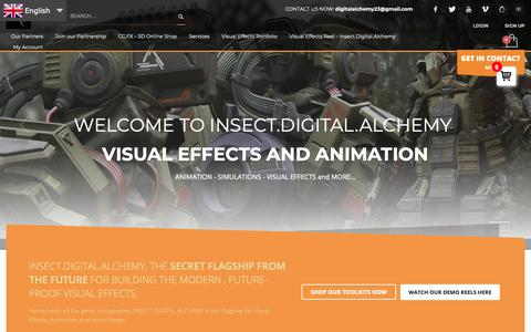 Screenshot of Home Page digital-alchemist.com - Insect.Digital.Alchemy – Visual Effects and Animation – Insect.Digital.Alchemy -Visual Effects and Animation Studio - captured Oct. 9, 2018