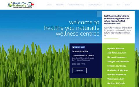 Screenshot of Home Page healthyyounaturally.com - Iridologist Nutritionist Herbalist | HYN Wellness Centres | Mississauga - captured Nov. 4, 2018