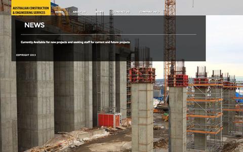 Screenshot of Press Page acesptyltd.com - NEWS - ACES Pty Ltd - ACES Pty Ltd - captured Oct. 4, 2014