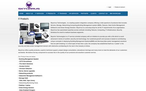 Screenshot of Products Page skycirrus.com - IT Products - captured Feb. 4, 2016