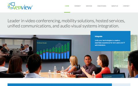 Screenshot of Home Page veraview.com - Video Conferencing, Distance Learning, Interactive Classrooms, Audio Visual, Digital Signage | Veraview - captured Feb. 14, 2016