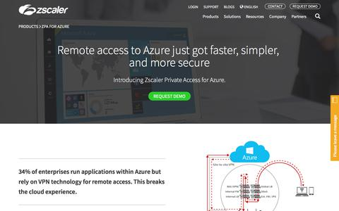 Zscaler for Microsoft Azure   Products