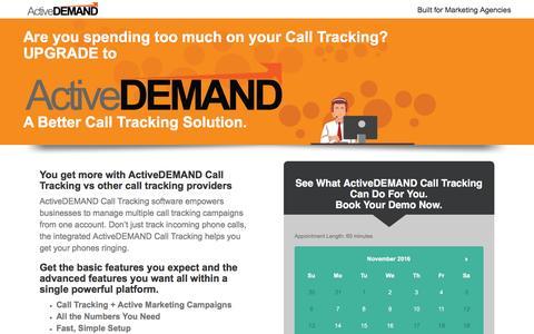 Screenshot of Landing Page activedemand.com - ActiveDEMAND: A Better Call Tracking Solution - captured Nov. 2, 2016