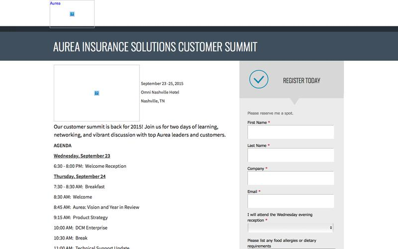 Aurea Insurance Solutions Customer Summit 2015 | Aurea
