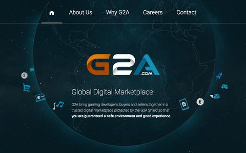 Screenshot of Home Page g2a.co - G2A - captured Jan. 22, 2016