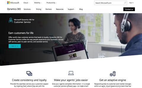 Screenshot of Support Page microsoft.com - Customer Service and Help Desk Software   Microsoft Dynamics 365 - captured Dec. 22, 2016