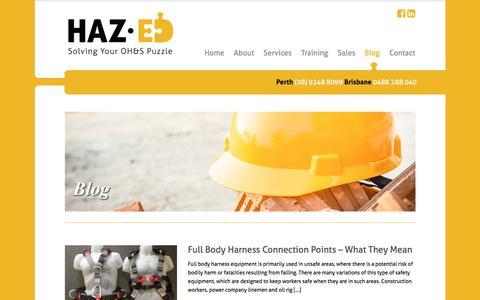 Screenshot of Blog haz-ed.com.au - Blog - Haz-ed - captured Nov. 2, 2016