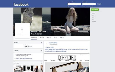 Screenshot of Facebook Page facebook.com - M2MALLETIER | Facebook - captured Oct. 23, 2014