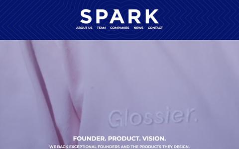 Screenshot of Home Page sparkcapital.com - Spark Capital - Home - captured Sept. 26, 2019