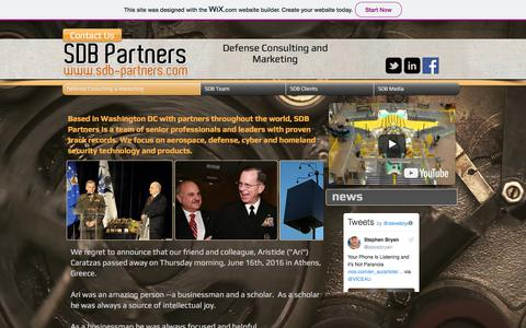 Screenshot of Home Page sdb-partners.com - SDB Partners - captured July 25, 2018