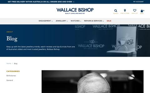 Screenshot of Blog wallacebishop.com.au - Blog - captured Oct. 18, 2018