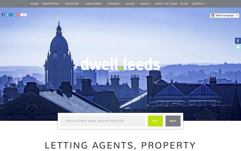 Screenshot of Home Page dwell-leeds.com - Letting & Estate Agents Leeds | Property management | dwell-leeds - captured Aug. 2, 2016