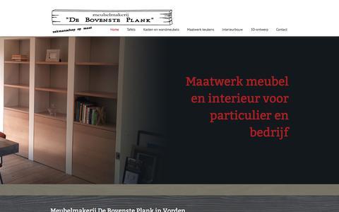 Screenshot of Home Page debovensteplank.nl - Home | Meubelmakerij De Bovenste Plank uit Vorden (Achterhoek) - captured Oct. 8, 2017