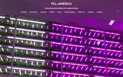Screenshot of Home Page pcl-america.com - PCL-AMERICA | Illuminating communities for a greener future - captured Jan. 22, 2016