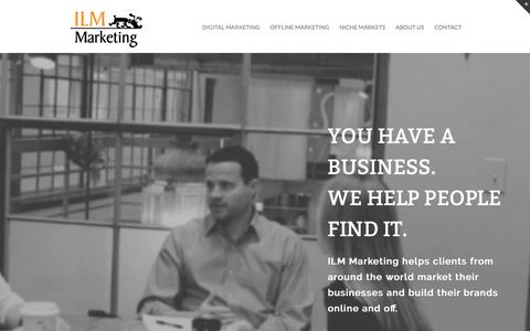Screenshot of Home Page ilmmarketing.com - ILM Marketing - Web Design & Marketing Agency in Wilmington NC - captured May 16, 2017