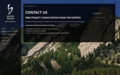 Screenshot of Contact Page boulderimaging.com - Contact Us    Boulder Imaging - captured Sept. 13, 2014