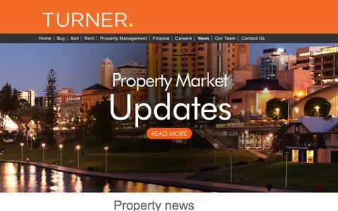Screenshot of Press Page turnerrealestate.com.au - Adelaide Property News & Articles | Turner Real Estate - captured Sept. 28, 2016