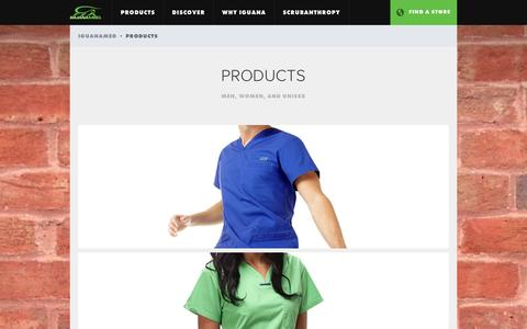 Screenshot of Products Page iguanamed.com - Products   IguanaMed - captured Sept. 30, 2014