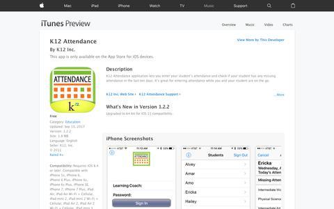 K12 Attendance on the App Store