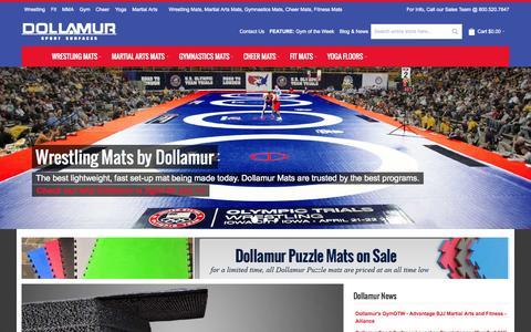 Screenshot of Home Page dollamur.com - Wrestling Mats, Martial Arts Mats, Gym Mats, Cheer Mats by Dollamur - captured Oct. 1, 2015